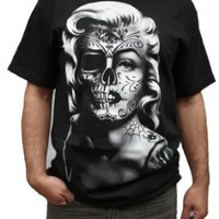 Swagger Tee Marilyn Monroe Sugar Skull Day of the Death Tattoo T-Shirt