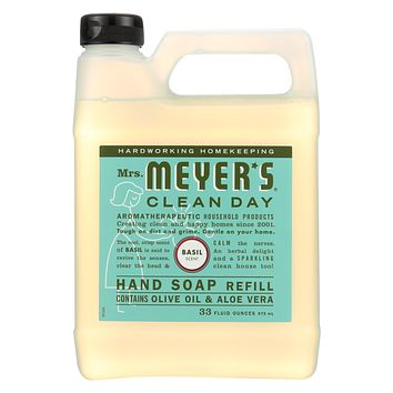 Mrs. Meyer's Clean Day - Liquid Hand Soap Refill - Basil - Case Of 6 - 33 Fl Oz.