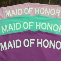 Monogrammed Orchid MAID OF HONOR Spirit Jersey