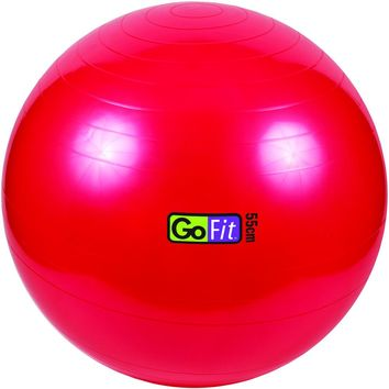 Gofit Exercise Ball With Pump (55cm; Red)