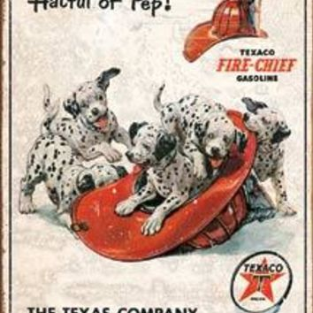 Tin Sign Texaco - Hat Full Of Pep