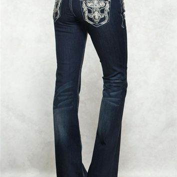Grace in LA Boot Paisley Jeans