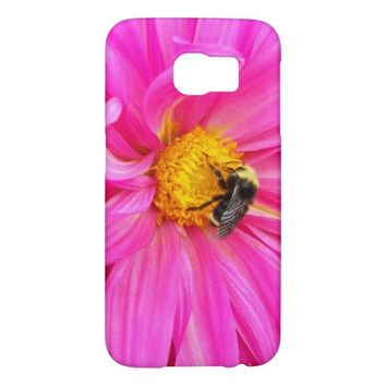 Bee on Pink Flower Samsung Galaxy S6 Cases