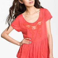Free People 'Candy Crafty' Embroidered Peplum Top | Nordstrom