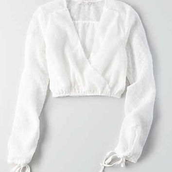 Don't Ask Why Tie Sleeve Top, White