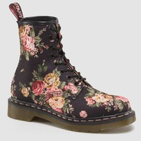 Dr Martens 1460 W Boot BLACK VICTORIAN FLOWERS - Doc Martens Boots and Shoes