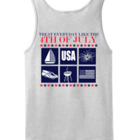 'Treat Everyday Like the 4th of July' Tank Top (2XL Only)