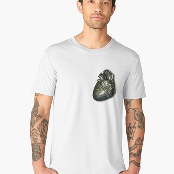 'Strong Heart' Men's Premium T-Shirt by BlackLineWhite