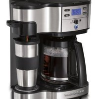 Hamilton Beach Single Serve Coffee Brewer and Full Pot Coffee Maker, 2-Way (49980A)