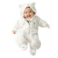 MUQGEW Funny Baby Clothes Cotton one piece Bear Hoodie Jumpsuit Clothes Baby Clothes Bodysuits Baby Sunsuit Macacao QZ06