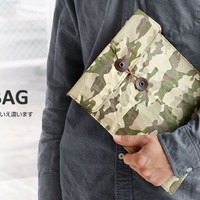 Strapya World : Fly Bag Super Light iPad Case (L Size / Camouflage)