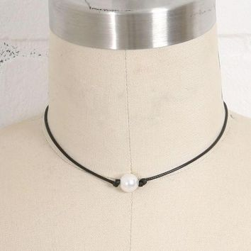 pearl on a cord necklace gift box  number 1