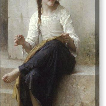 Sewing By Adolphe-William Bouguereau - Canvas Print