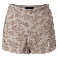 Buy French ConnectionMimosa Mini Shorts, Silverweed online at JohnLewis.com