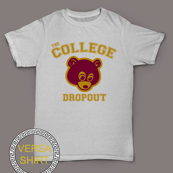 The College dropout t-shirt yeezus shirt kanye west tee black and white top VSY-1