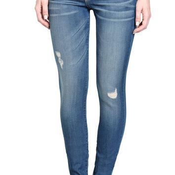 The Distressed Skinny-Stretch Jeans-FINAL SALE