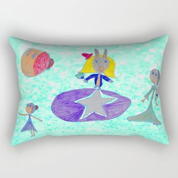 Alice | Up to the light sky Rectangular Pillow by Azima