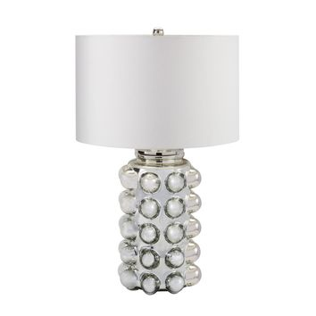 Bubble Glass Table Lamp in Silver Mercury Silver Mercury