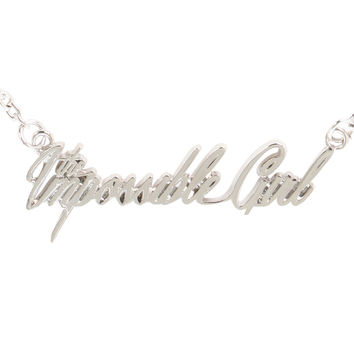 Doctor Who The Impossible Girl Nameplate Necklace