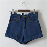 GCAROL Women New Arrival Denim Shorts Vintage High Waist Cuff Jeans Shorts Girls'Street Wear Sexy Plus Size XXL Shorts