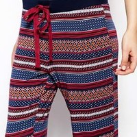 Esprit Multicolour Fairisle Print Long Cuffed PJ Jogger