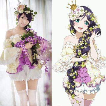 LoveLive! Card SR Nozomi Tojo Fairy Awakening Cosplay Fancy Dress Adult Costumes Halloween Costumes for Women Custom Any Size