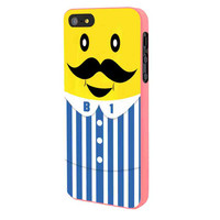 Bananas iPhone Banana Mustache iPhone 5 Case Framed Pink