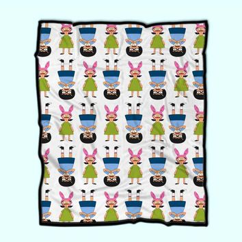Tina And Louise Belcher Fleece Blanket