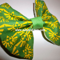 Legend of Zelda Triforce Eagle emblem crest Fabric hair bow or bow tie