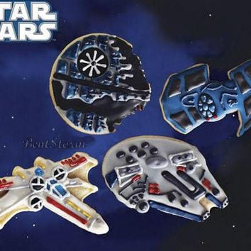 Licensed cool Star Wars Cookie Cutters Space Vehicle REBEL IMPERIAL for cool Birthday Party