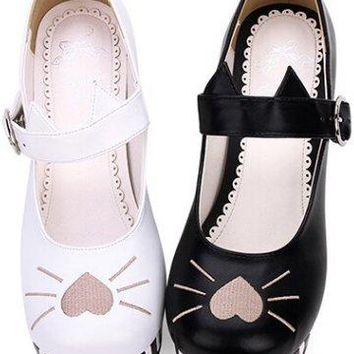 Limited Edition - Cat Themed Mary Janes - 2 Colors