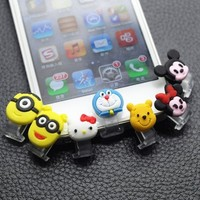 "cyber monday deals 2014 Backgarden"" Home Cute Animal Data Jack Anti Dust Plug + Home Button Sticker for Iphone 5 Apple 5C / ipad4 / ipad Mini (5 Stickers in 1)"