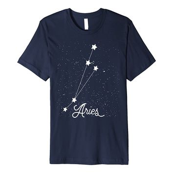 Aries Horoscope T-Shirt Aries Astrology Zodiac Constellation
