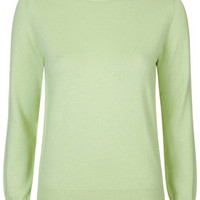 Light Wool Blend Jumper by Boutique - Mint