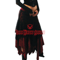 Long Lace Gothic Handkerchief Skirt - FX1065 from Dark Knight Armoury