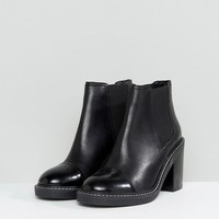 ASOS ENTAIL Premium Leather Heeled Chelsea Boots at asos.com
