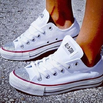 Rhinestone Converse Shoes