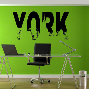 York New York Urban City Cool Office Style Wall decor Mural Decal vm002