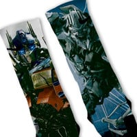 Transformers Megatron Optimus Prime Duo Custom Nike Elite Socks