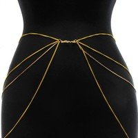 Yellow Multi-Layer Chain Belt