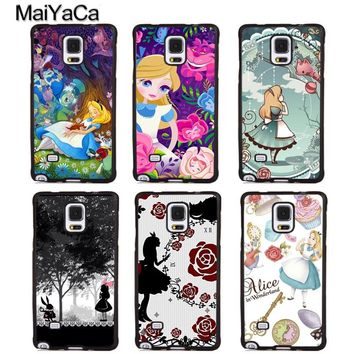 MaiYaCa Alice in Wonderland Cartoon Phone Cases For Samsung Galaxy S4 S5 S6 S7 edge plus S8 S9 plus Note 4 5 8 Back Cover Coque