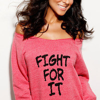 Fight For It OfftheShoulder Girly by FiredaughterClothing on Etsy