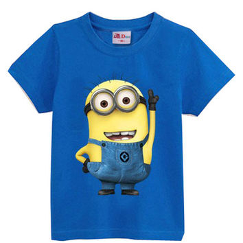 Despicable me Short Sleeve t shirt Children Minions Boys Clothes T-Shirts For Girls Boys t shirts Kids Baby Children's Clothing