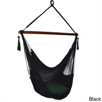 Large Caribbean Hammock Chair - 48 Inch - Polyester - Hanging Chair - tan