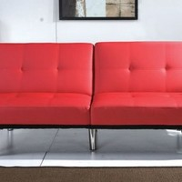 Red Matrix Modern Sleeper Click-Clack Adjustable Sofa Bed