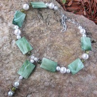 Beaded Y Shape Necklace by Steampnk Beadery