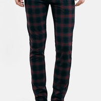 Men's Topman Skinny Fit Check Print
