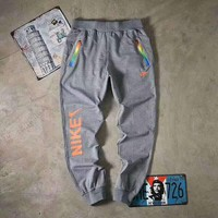 NIKE Women Fashion Rainbow Color Print Sport Stretch Pants Trousers Sweatpants G-A-GHSY-1