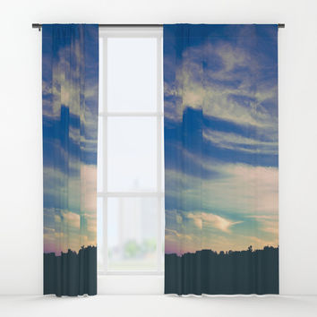 Cross My Mind Window Curtains by Faded  Photos