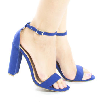 Arianna1 Classic Open Toe Ankle Cuff Chunky Heel Sandals